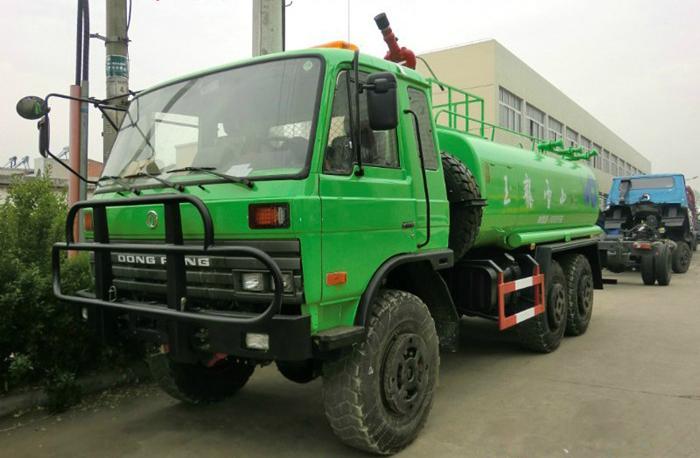 山区沙漠专用6驱东风洒水车(运水车)