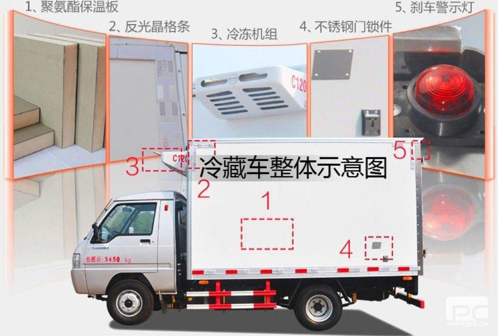 东风天锦冷藏车(厢长6.1米)结构示意图