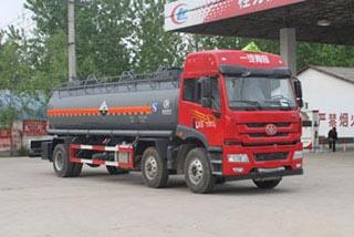 15.7方氨水解放小三轴腐蚀性物品罐式运输车
