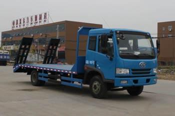 拉15-18吨解放单桥国四平板运输车