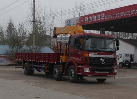 国四欧曼小三轴12吨随车吊