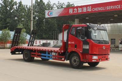 拉15-18吨解放J6单桥平板运输车