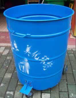 240L铁垃圾桶|垃圾车专用圆型铁桶
