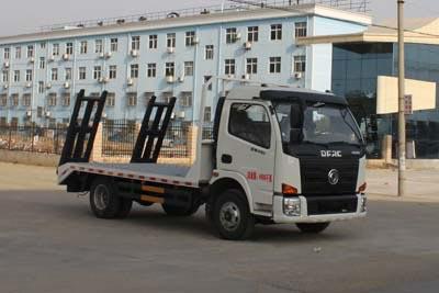 拉6-8吨挖机东风蓝牌平板运输车