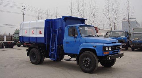 东风140挂桶式垃圾车