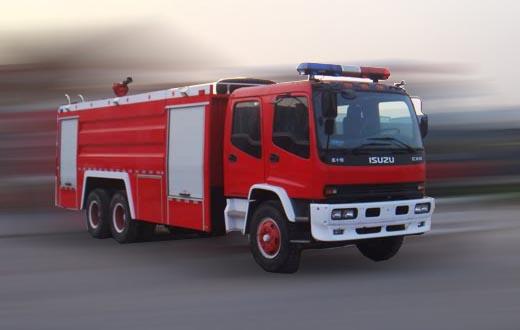 五十铃牌11吨水罐消防车