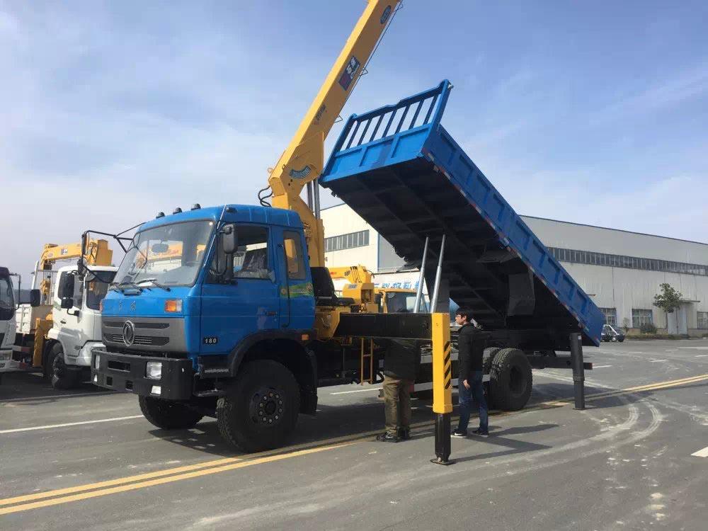 东风153石煤8吨自卸随车吊