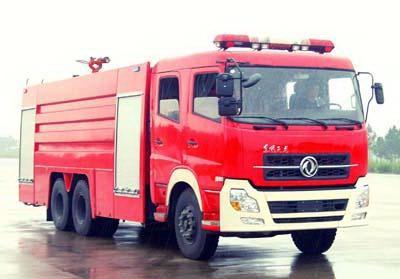 东风天龙15吨水罐泡沫消防车