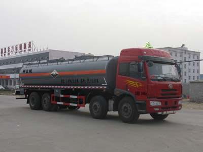 19.9方稀盐酸或乙酸解放前四后八腐蚀性物品罐式运输车