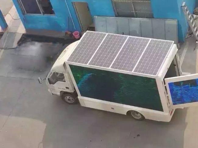 太阳能广告宣传车