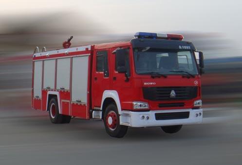 7吨重汽豪泺牌水罐消防车