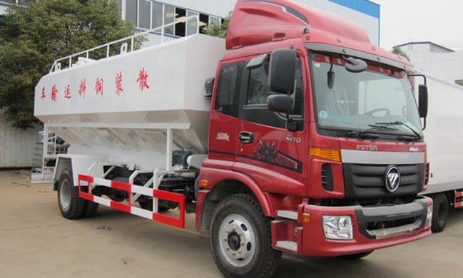 20立方(10吨)电动欧曼散装饲料车