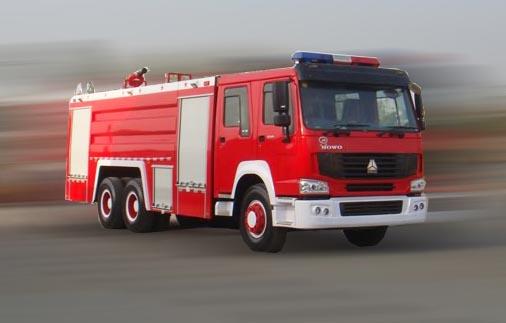 重汽豪泺牌12吨水罐消防车