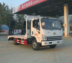 拉6-8吨解放单桥平板运输车