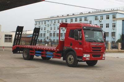 拉15-18吨解放单桥平板运输车