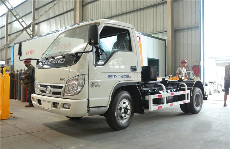 福田小卡(5方)车厢可卸式垃圾车